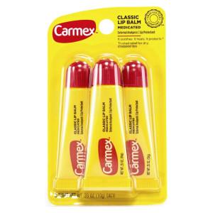 Carmex Classic Lip Balm Medicated Набір лікувальних бальзамів для губ в тюбиках Original 3 шт. по 10 г