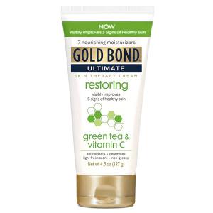 Gold Bond Ultimate Restoring Skin Therapy Cream with Green Tea & Vitamin C Відновлюючий крем для шкіри з зеленим чаєм і вітаміном С 127 г