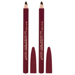 Maybelline Expert Wear Twin Eye & Brow Pencils Олівець для очей і брів (2 шт.) відтінок 102 Dark Brown