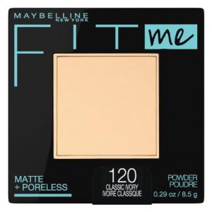 Maybelline Fit Me Matte + Poreless Powder Makeup Компактна матуюча пудра відтінок 120 Classic Ivory