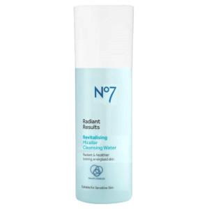 No7 Laboratories Radiant Results Revitalizing Micellar Cleansing Water Міцелярна вода для сяяння шкіри 30 мл (мініатюра)