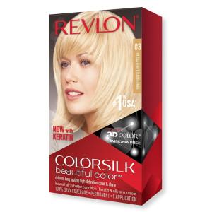 Revlon ColorSilk Beautiful Color Стійка фарба для волосся відтінок 03 Ultra Light Sun Blonde (Ультрасвітлий сонячний блондин)