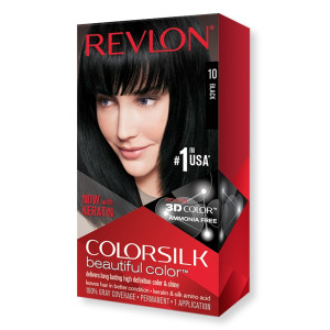 Revlon ColorSilk Beautiful Color Стійка фарба для волосся відтінок 10 Black (Чорний)