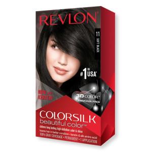 Revlon ColorSilk Beautiful Color Стійка фарба для волосся відтінок 11 Soft Black (М'який чорний)