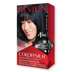 Revlon ColorSilk Beautiful Color Стійка фарба для волосся відтінок 12 Natural Blue Black (Синяво-чорний)