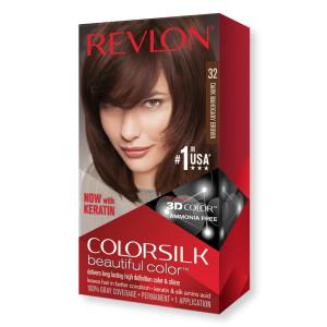 Revlon ColorSilk Beautiful Color Стойкая краска для волос оттенок 32 Dark Mahogany Brown (Темно-коричневый махагон)