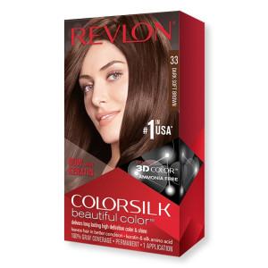 Revlon ColorSilk Beautiful Color Стойкая краска для волос оттенок 33 Dark Soft Brown (Теплый темно-коричневый)