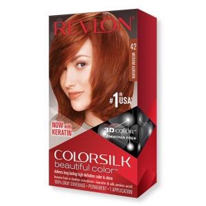 Revlon ColorSilk Beautiful Color Стойкая краска для волос оттенок 42 Medium Auburn (Средний рыжий)