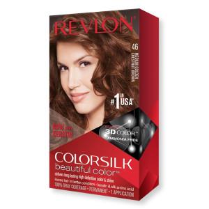 Revlon ColorSilk Beautiful Color Стойкая краска для волос оттенок 46 Medium Golden Chestnut Brown (Средний золотисто-каштановый)