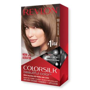 Revlon ColorSilk Beautiful Color Стойкая краска для волос оттенок 50 Light Ash Brown (Светлый пепельно-коричневый)