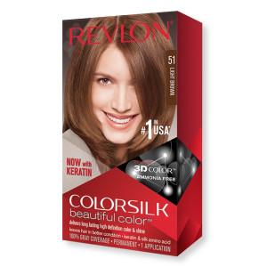 Revlon ColorSilk Beautiful Color Стойкая краска для волос оттенок 51 Light Brown (Светло-коричневый)