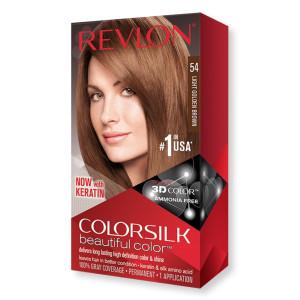 Revlon ColorSilk Beautiful Color Стойкая краска для волос оттенок 54 Light Golden Brown (Светлый золотисто-коричневый)