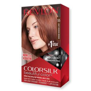 Revlon ColorSilk Beautiful Color Стойкая краска для волос оттенок 55 Light Reddish Brown (Светлый красновато-коричневый)