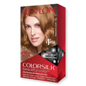 Revlon ColorSilk Beautiful Color Стойкая краска для волос оттенок 57 Lightest Golden Brown (Самый светлый золотисто-коричневый)