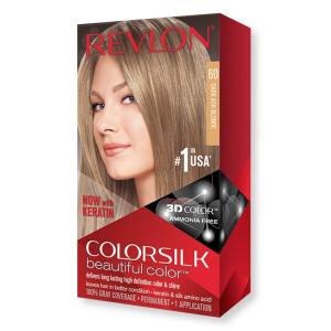 Revlon ColorSilk Beautiful Color Стійка фарба для волосся відтінок 60 Dark Ash Blonde (Темно-попелястий блондин)