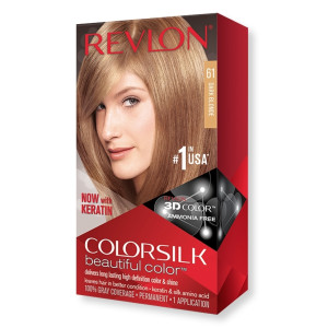 Revlon ColorSilk Beautiful Color Стійка фарба для волосся відтінок 61 Dark Blonde (Темний блондин)
