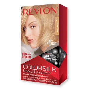 Revlon ColorSilk Beautiful Color Стійка фарба для волосся відтінок 71 Golden Blonde (Золотистий блондин)