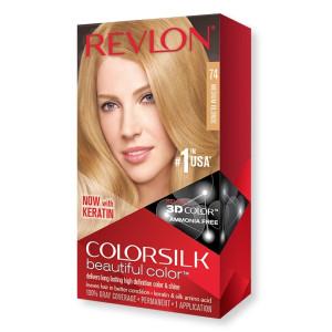 Revlon ColorSilk Beautiful Color Стійка фарба для волосся відтінок 74 Medium Blonde (Натуральний блондин)