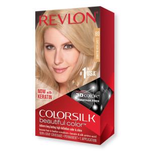 Revlon ColorSilk Beautiful Color Стійка фарба для волосся відтінок 80 Light Ash Blonde (Світло-попелястий блондин)