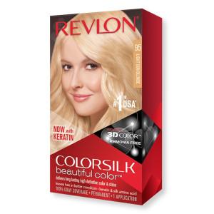 Revlon ColorSilk Beautiful Color Стійка фарба для волосся відтінок 95 Light Sun Blonde (Світлий сонячний блондин)