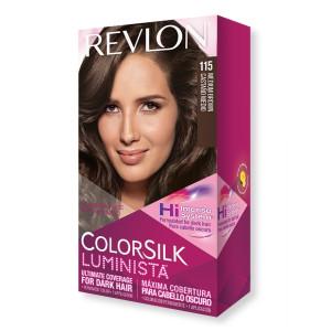 Revlon ColorSilk Luminista Hair Color Стійка фарба для темного волосся відтінок 115 Medium Brown (Середній коричневий)