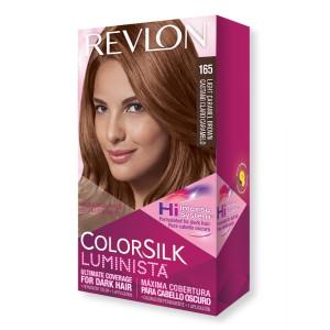 Revlon ColorSilk Luminista Hair Color Стійка фарба для темного волосся відтінок 165 Light Caramel Brown (Світлий карамельно-коричневий)