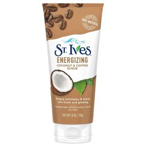 St. Ives Energizing Coconut & Coffee Scrub Енергетичний скраб для обличчя з екстрактом кокоса і кави 170 г